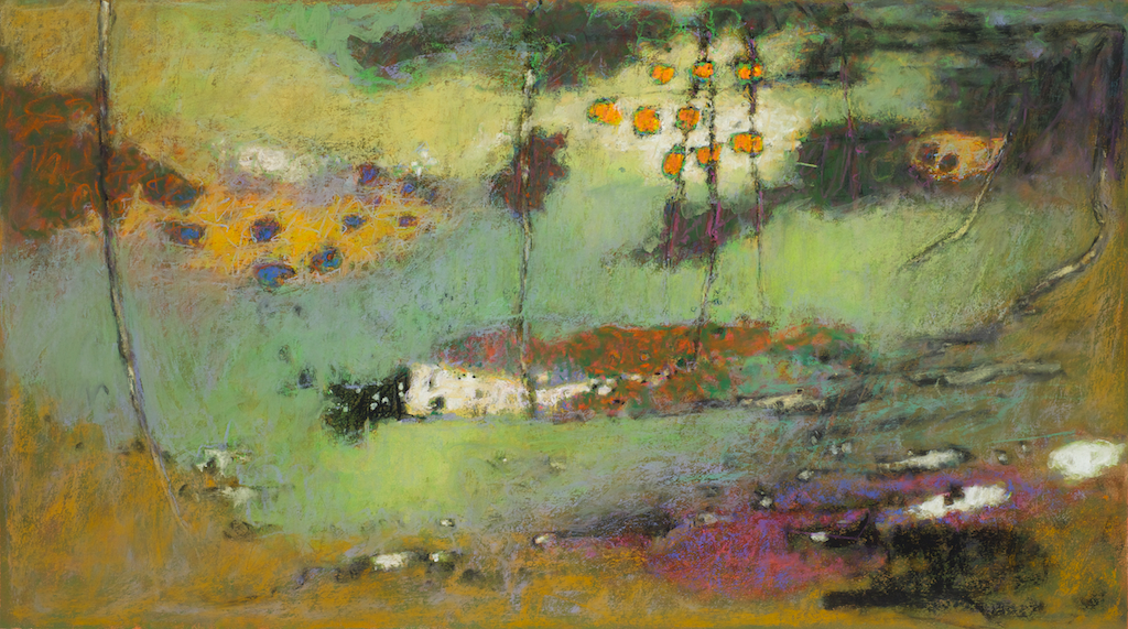 Light Reaching Everywhere | pastel on paper | 20 x 40"