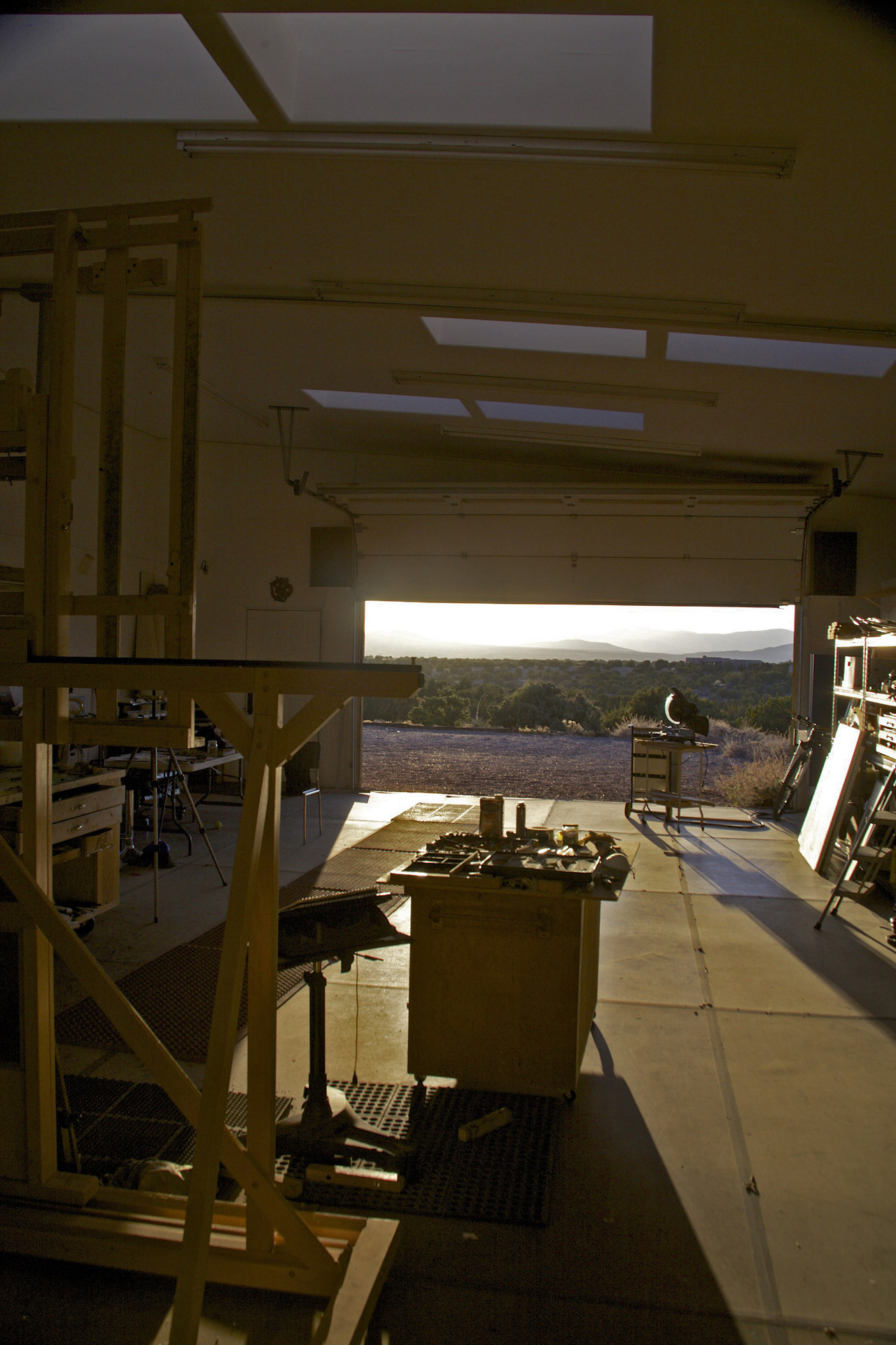 Sunset at Rick Stevens Studio in Santa Fe, NM