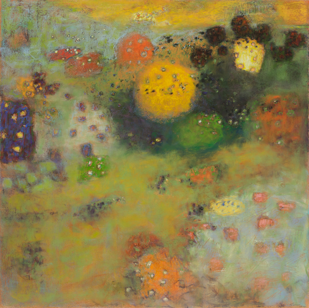 Reflections In Suspension | pastel on paper | 30 x 30"