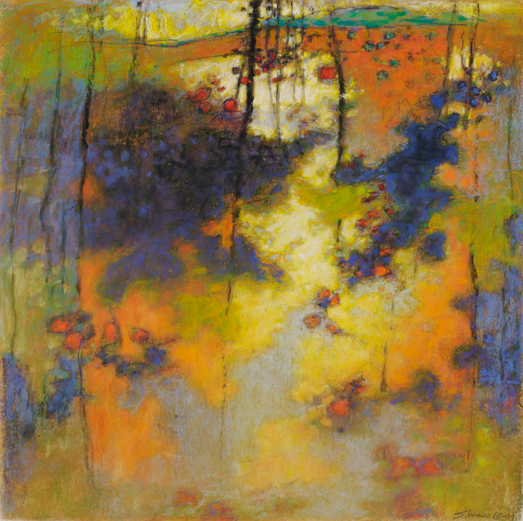 60-09 | pastel on paper | 14 x 14"