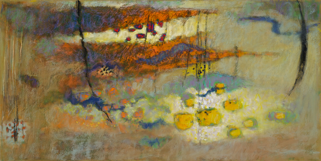 New Familiarity | pastel on paper | 20 x 40"