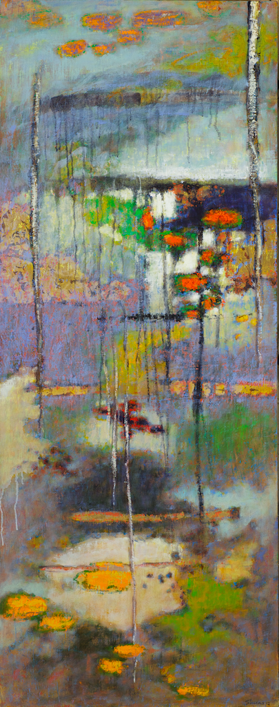 Realm Of Refraction   | oil on canvas | 48 x 19"