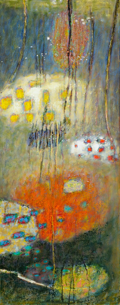 Implicate Becoming Multiform Explicate | oil on canvas | 48 x 19"