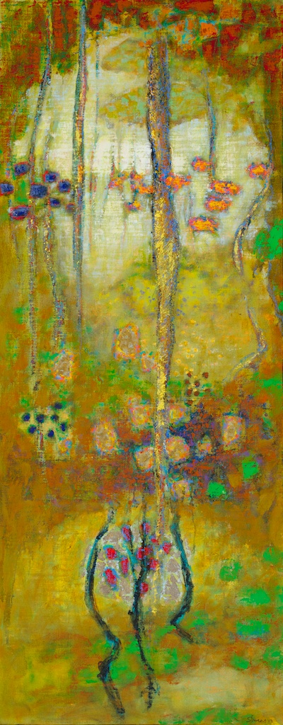 Enchanted Sequences | oil on canvas | 48 x 19"