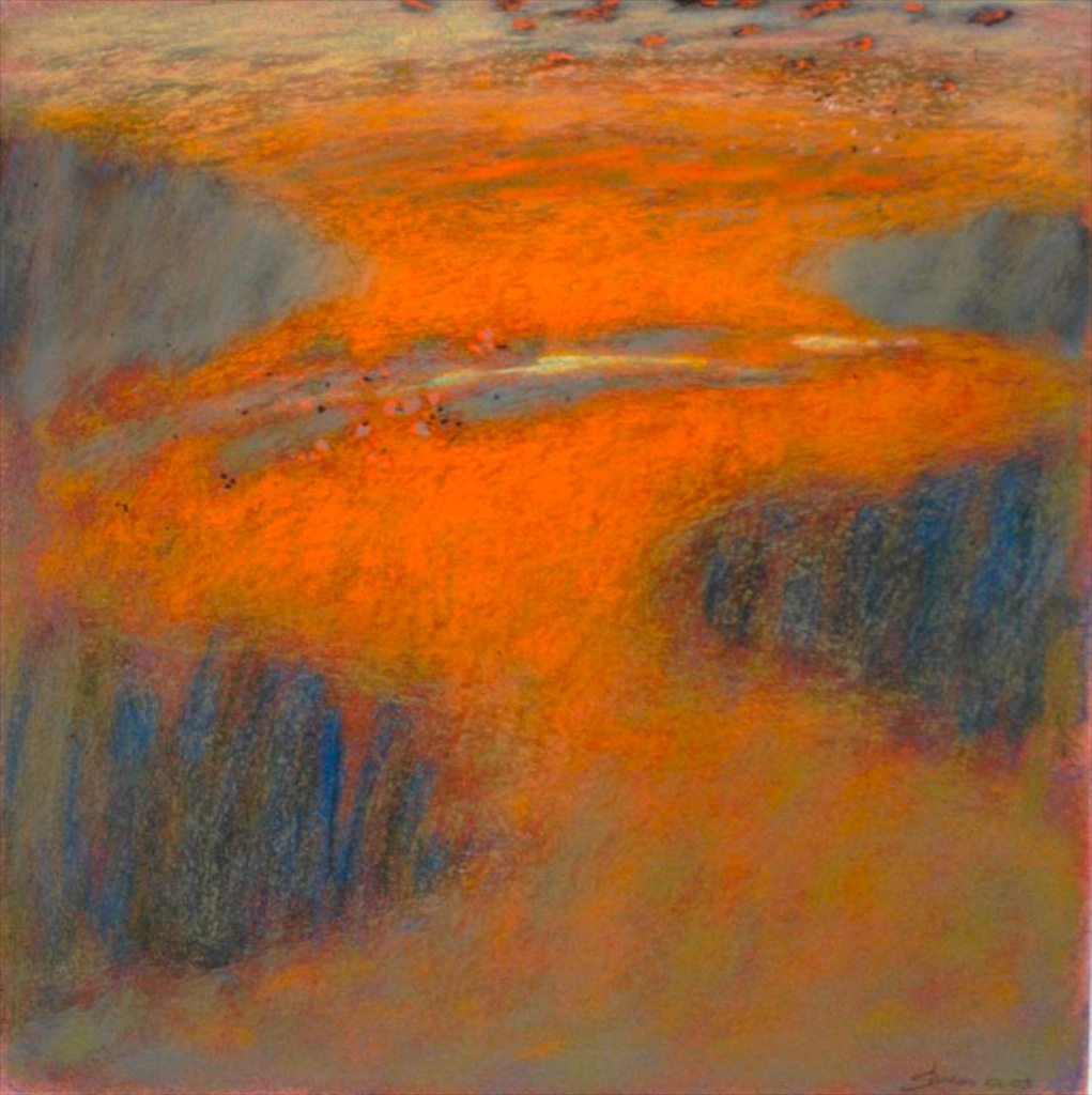 56-03 | pastel on paper | 14 x 14"