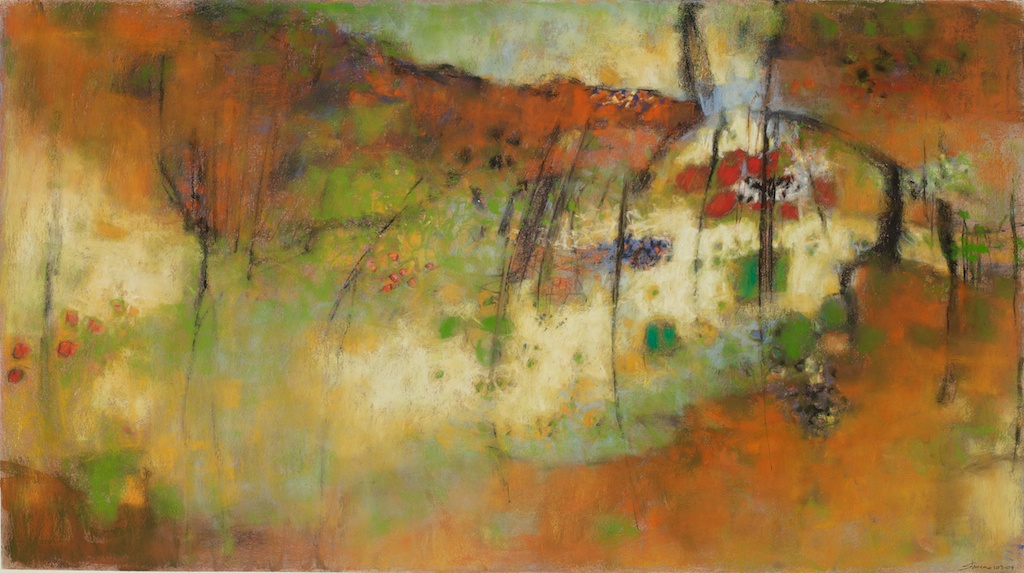 The Canyon's Embrace | pastel on paper | 20 x 36"