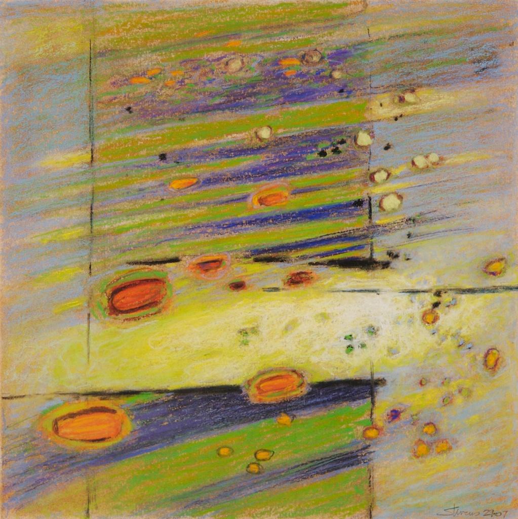 "29-07 | pastel on paper | 14 x 14"" | 2007 website"