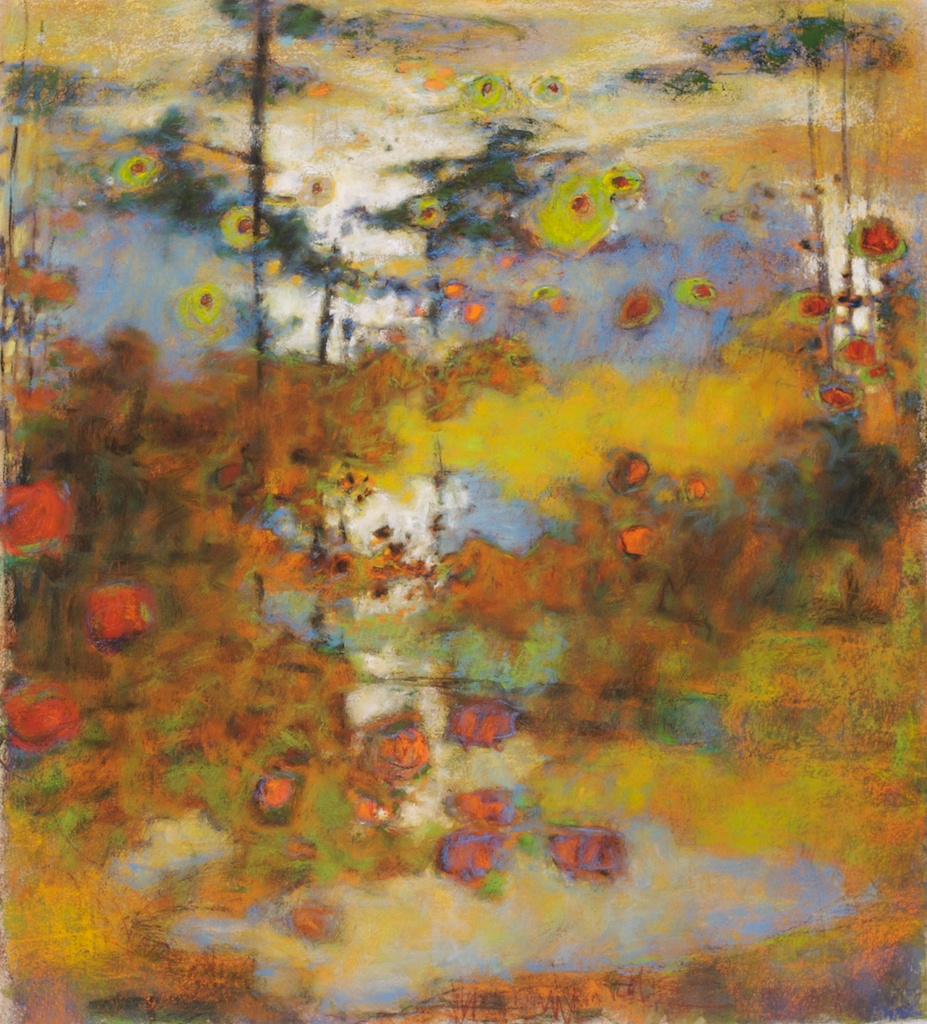 In Back of Beyond   | pastel on paper | 20 x 18"