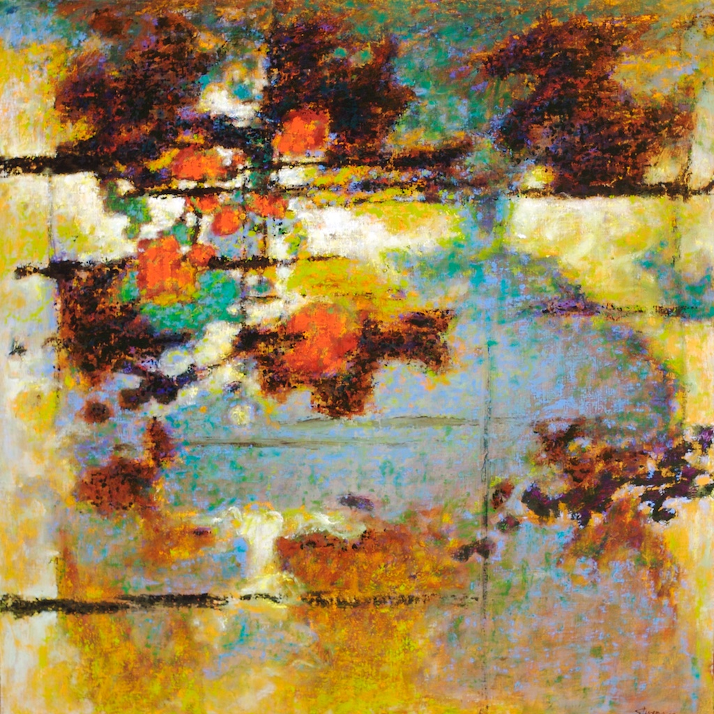 Off The Map | oil on canvas | 32 x 32"
