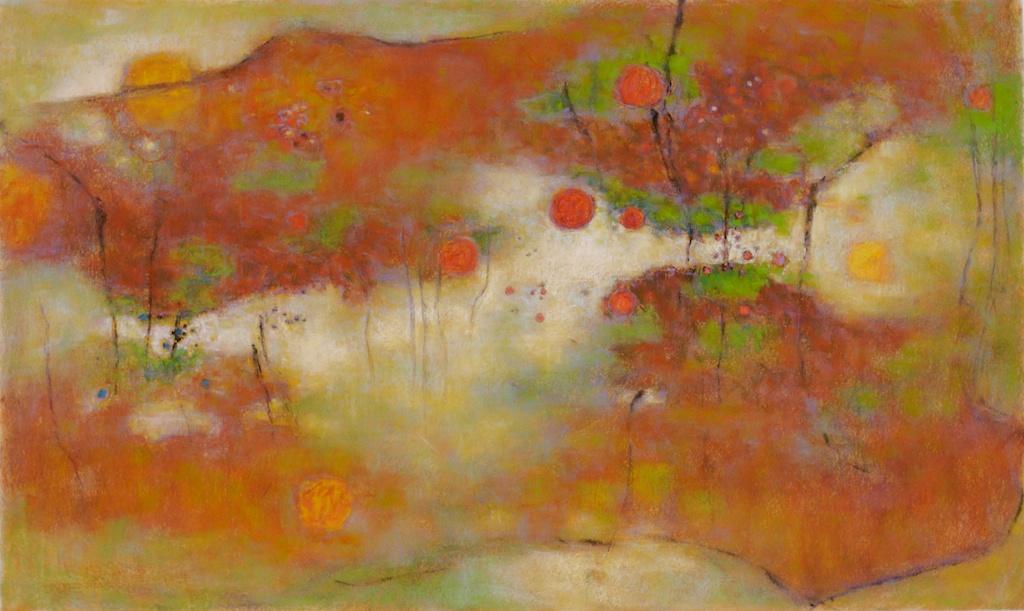"Westerly Prayer | pastel on paper | 24 x 40"" | 2008 http://bit.ly/QnOydo"