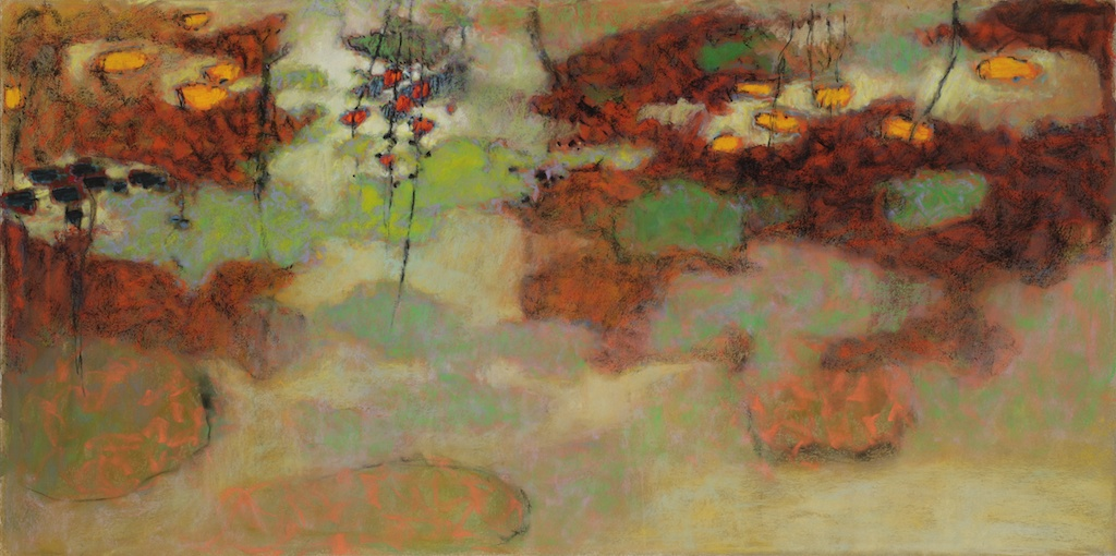 Organic Fusion | pastel on paper | 18 x 36"