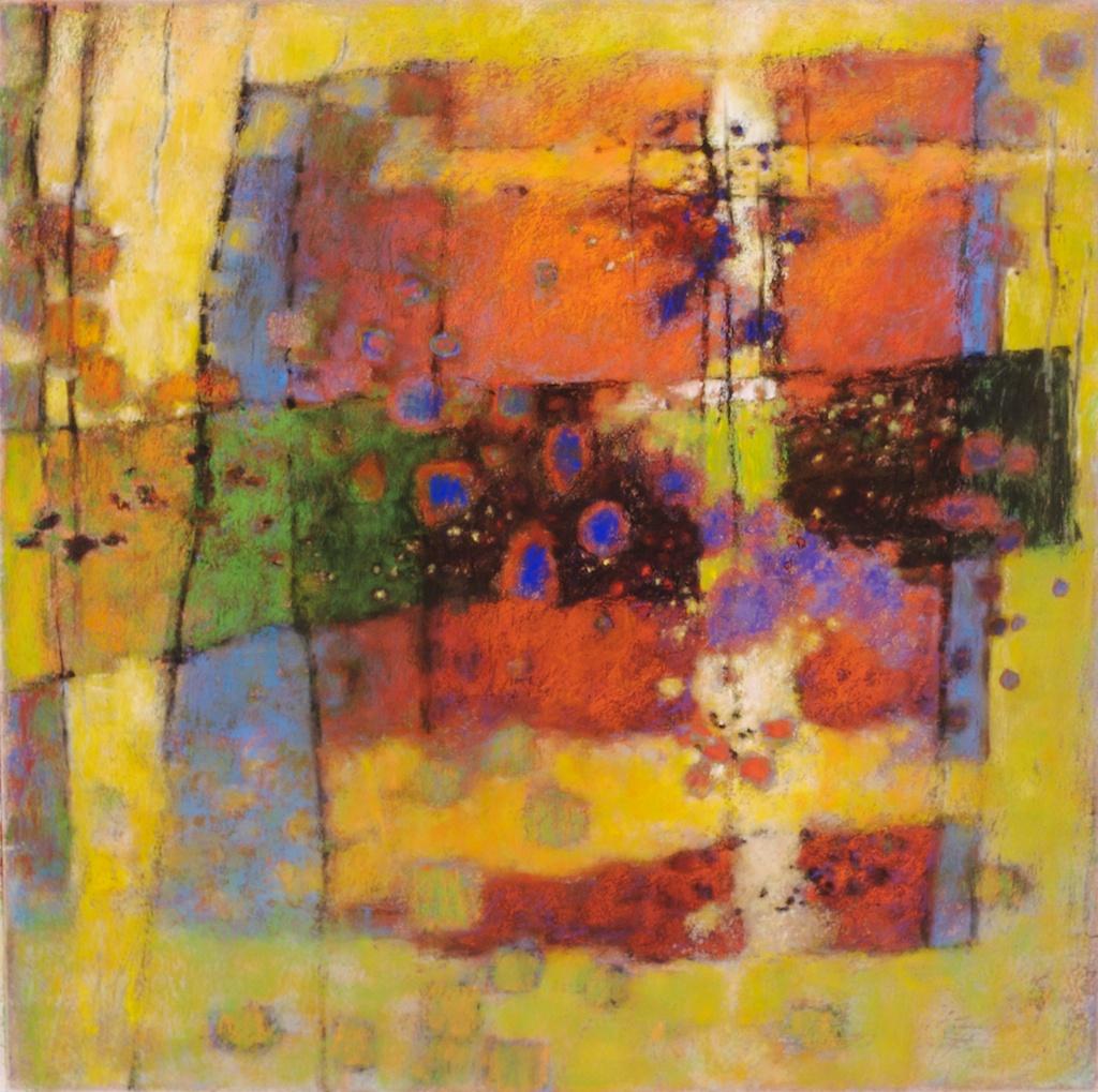 "Internal Brightness   | pastel on paper | 26 x 26"" | 2008  website"