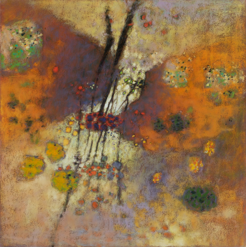Morning Jewels | pastel on paper | 26 x 26"