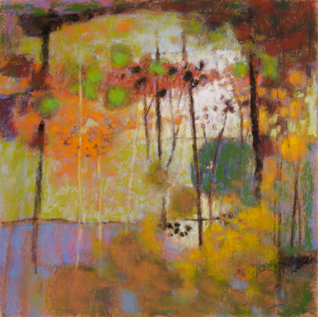 My Walk Through The Woods | Rick Stevens | pastel on paper | 14 x 14"