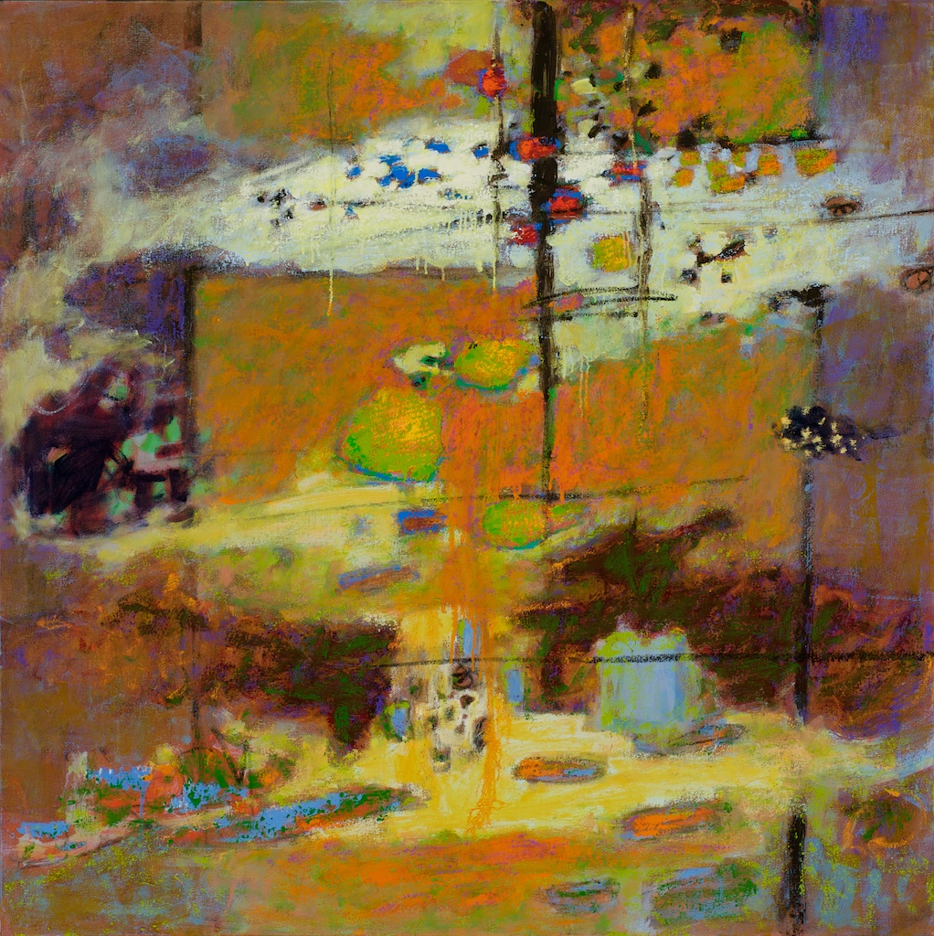 Your Light Is My Guide | pastel on paper | 14 x 14"
