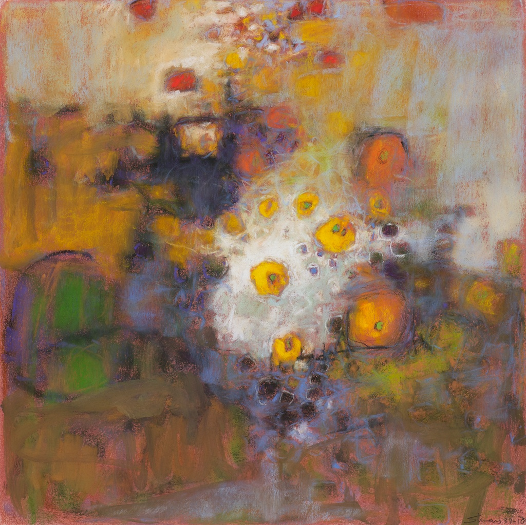 Quiet Rush   | pastel on paper | 14 x 14"