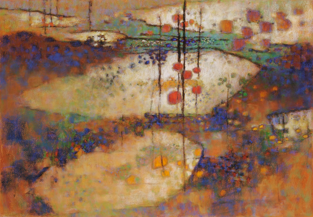 Palace Of The Windowed Rocks | pastel on paper | 31 x 44"