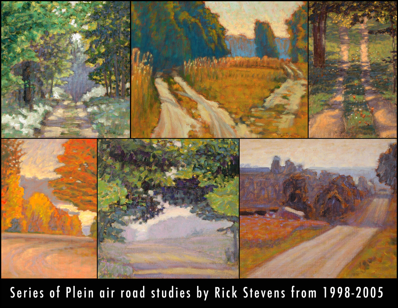 Series of Plein Air road studies from 1998-2005      more retrospective work