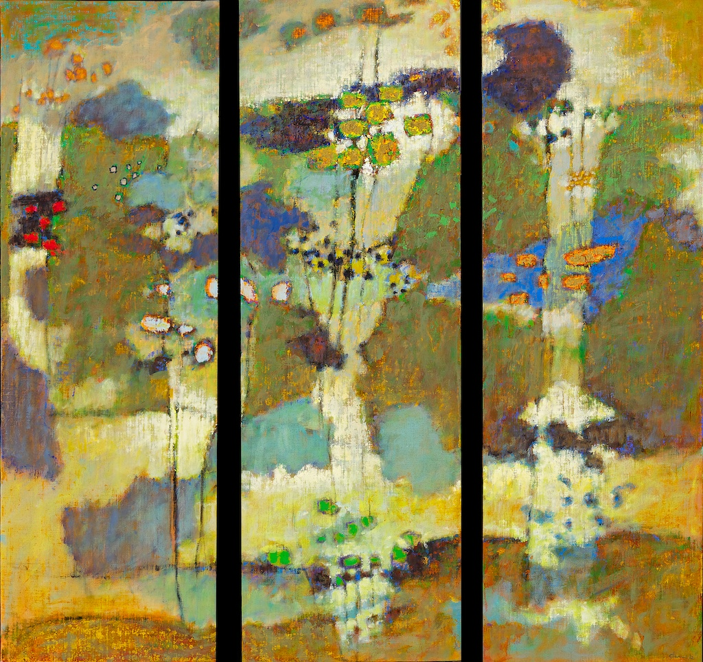"Perpetual Unfolding   | 3 48 x 18"" panels 