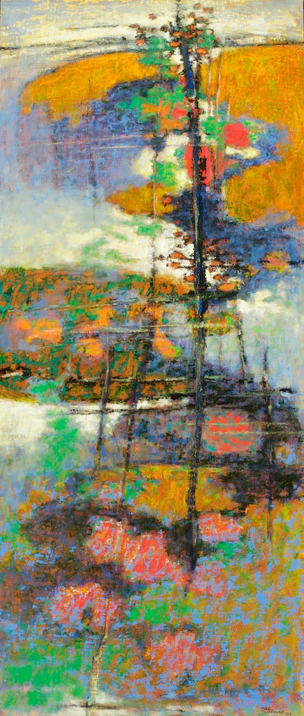 Approaching Summit   | oil on linen | 44 x 20"