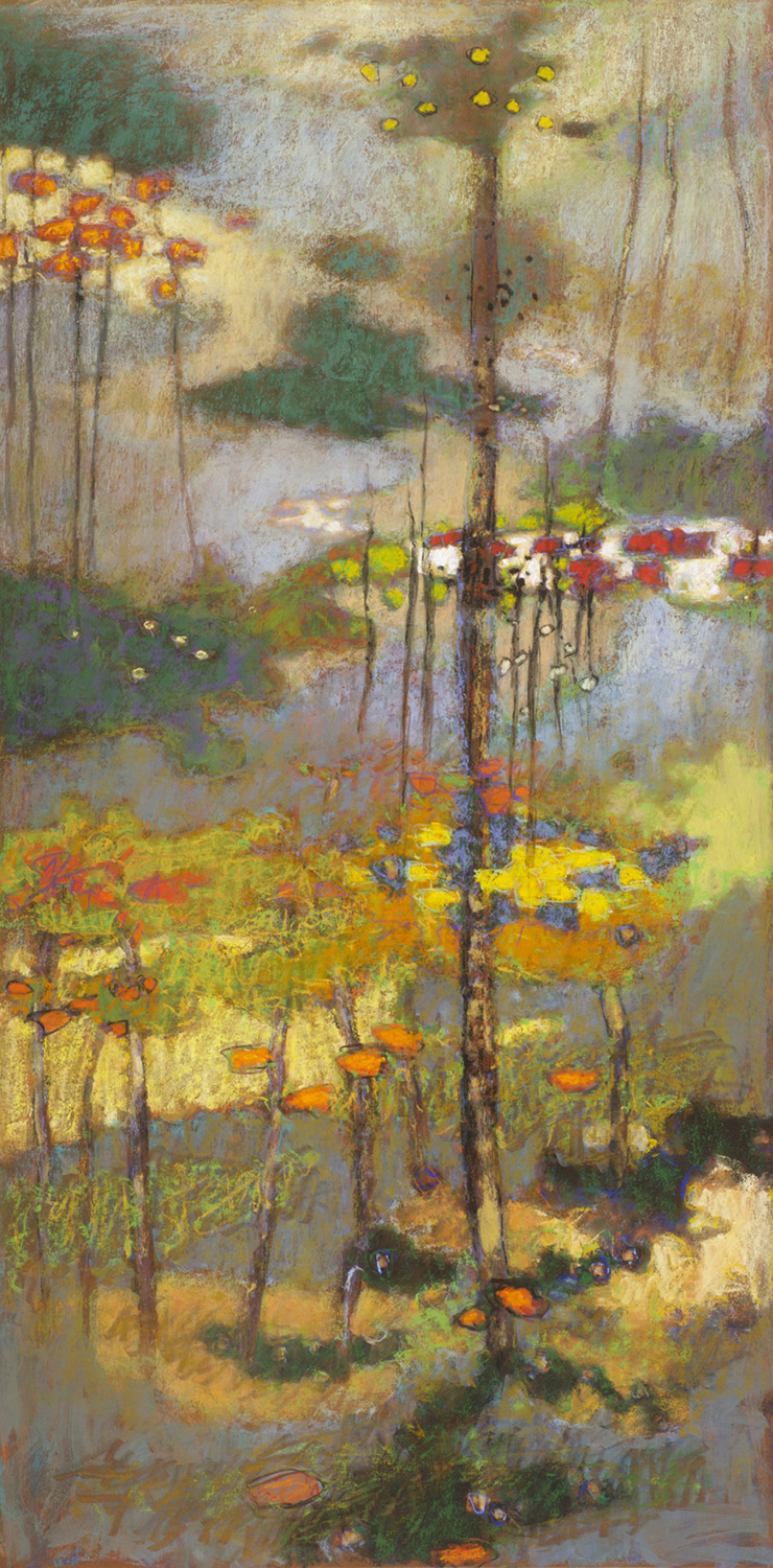 Atmospheric Suspension | pastel on paper | 40 x 20"