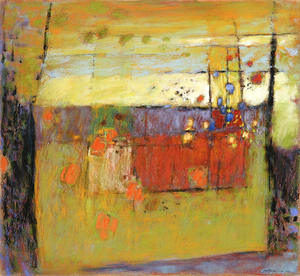 "Surfacing | pastel on paper | 22 x 24"" | 2006"