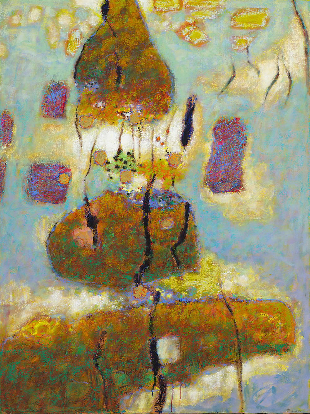 Psychic Entity   | oil on canvas | 48 x 32"