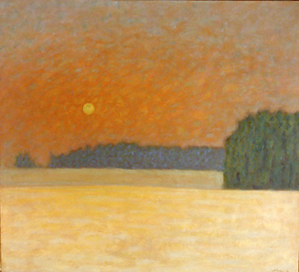 Winter Moon | oil on canvas | 40 x 44"