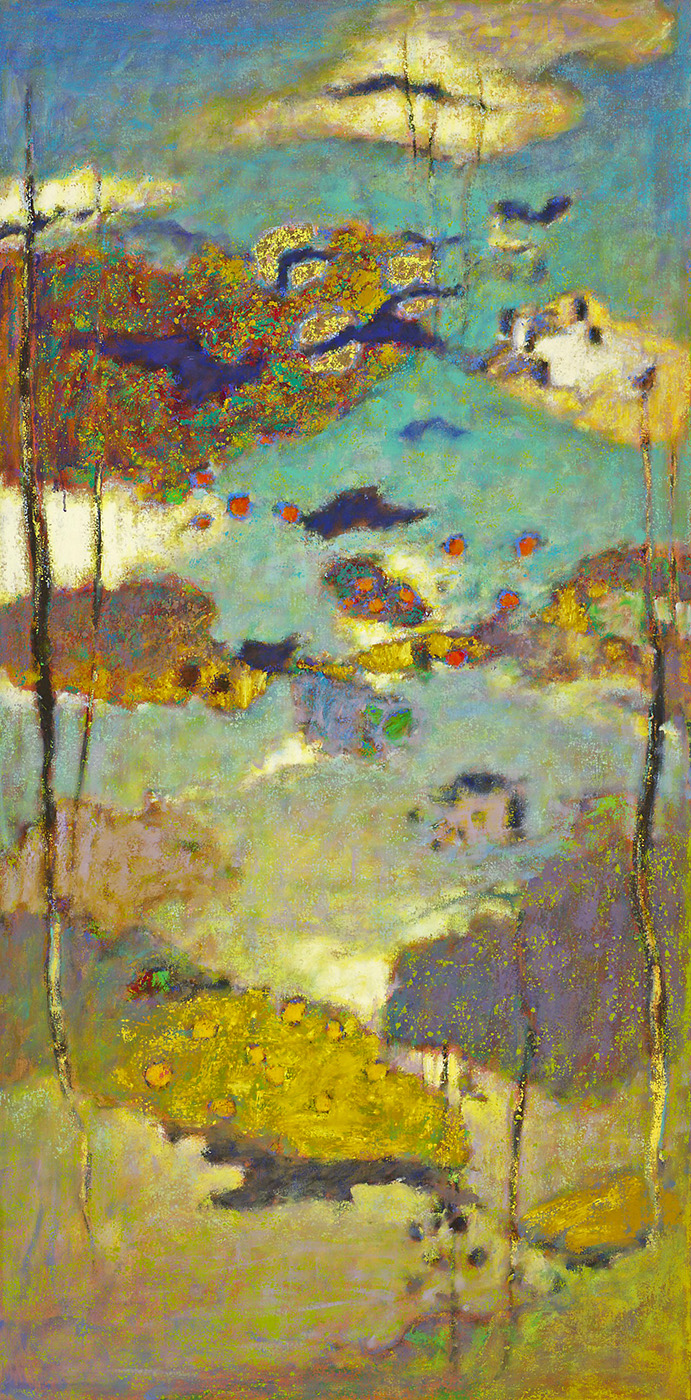 The View From Here | oil on canvas | 72 x 36"