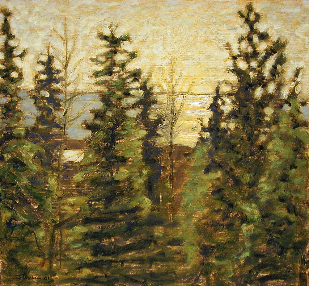 View Over Pines   | oil on panel | 12 x 13"