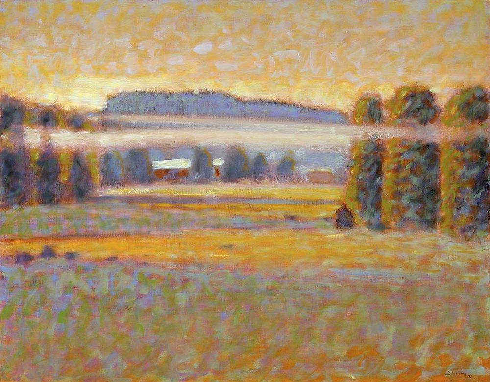 "Rising Mist   | oil on canvas | 28 x 36"" | 2002"
