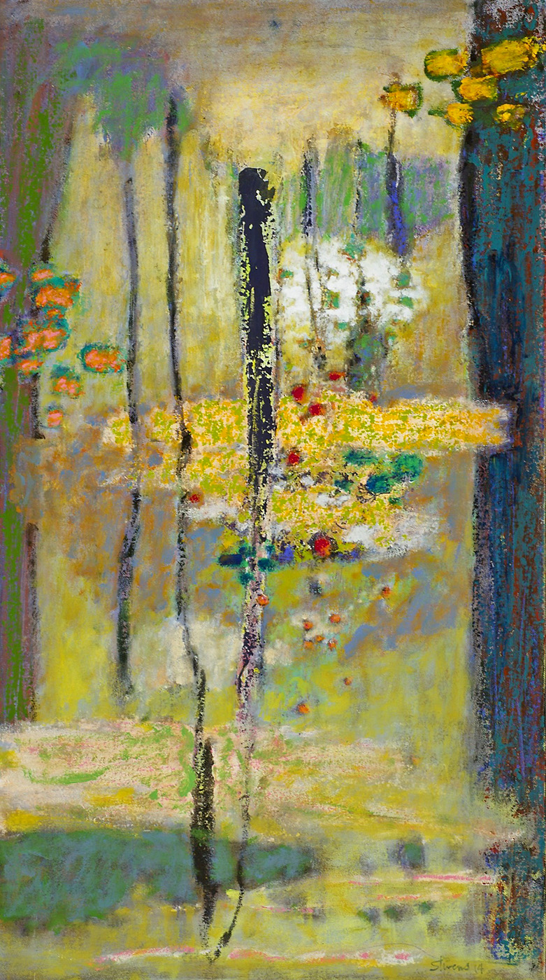 The Path Between | oil on canvas | 32 x 18"