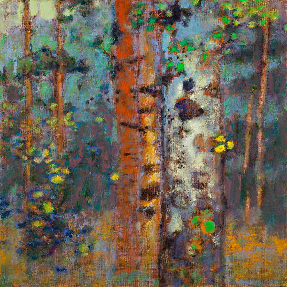 Rick Stevens |   Reflection of Time   | oil on linen | 12 x 12"