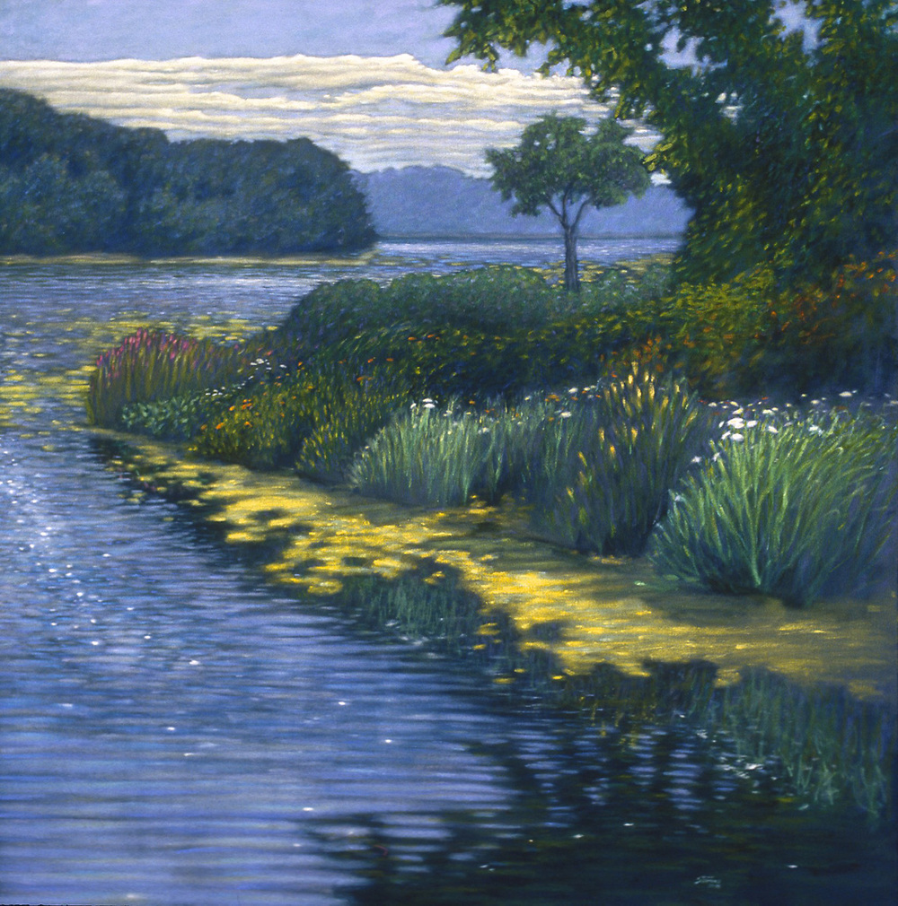 Canal to Green Lake   | oil on canvas | 48 x 48"