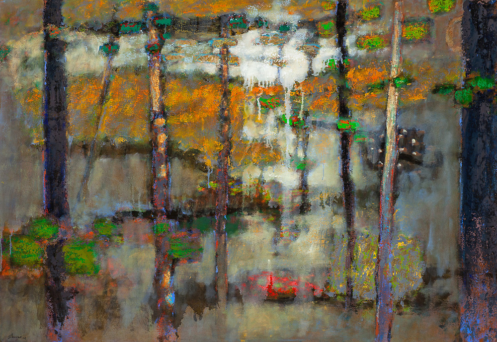 A Moment Alone   | oil on canvas | 32 x 48"