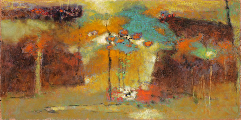 The Universe Surrenders to the Still Mind | pastel on paper | 20 x 40"