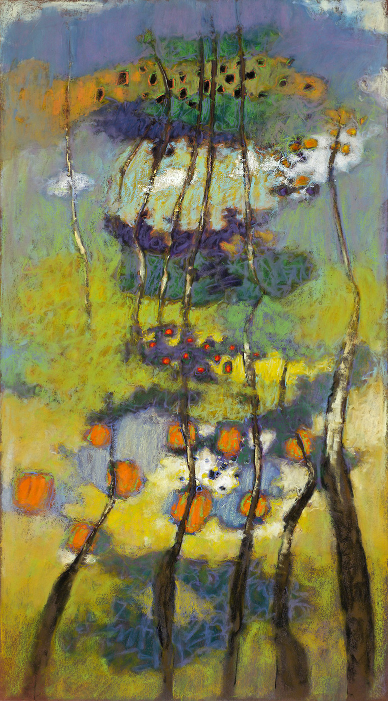 Ascending Conditions | pastel on paper | 36 x 20"