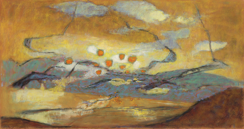 Range of Motion   | pastel on paper | 20 x 38"