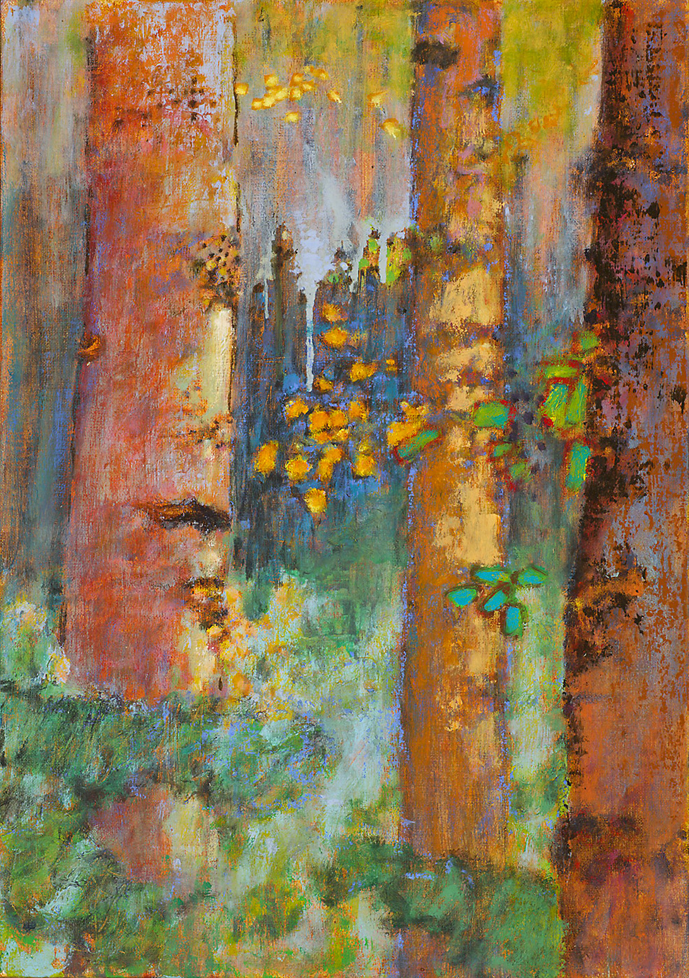 Aspen Encounter | oil on linen | 17 x 12"