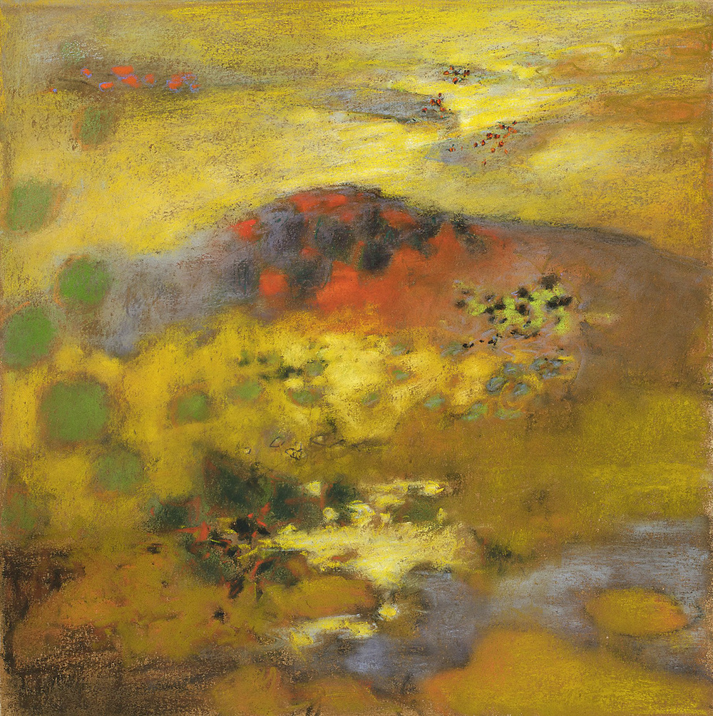 Mountain, No Mountain, pastel on paper | 14 x 14"