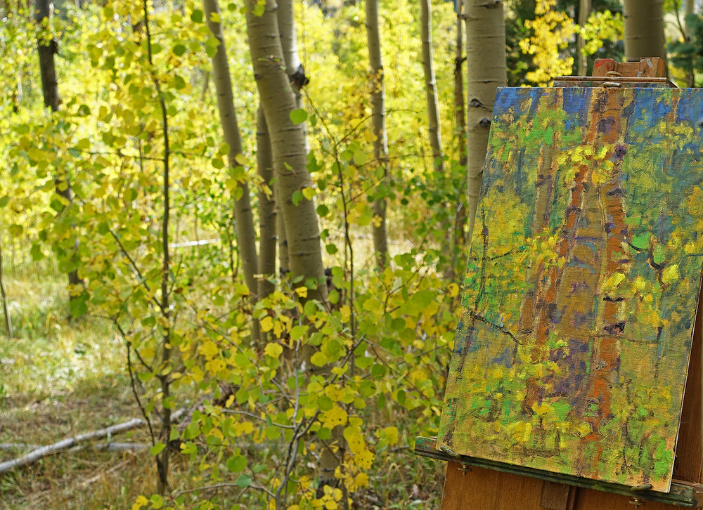 New aspen series piece started yesterday in Santa Fe