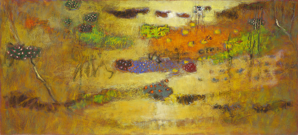 Emerging From Nothing   | pastel on paper | 18 x 40"