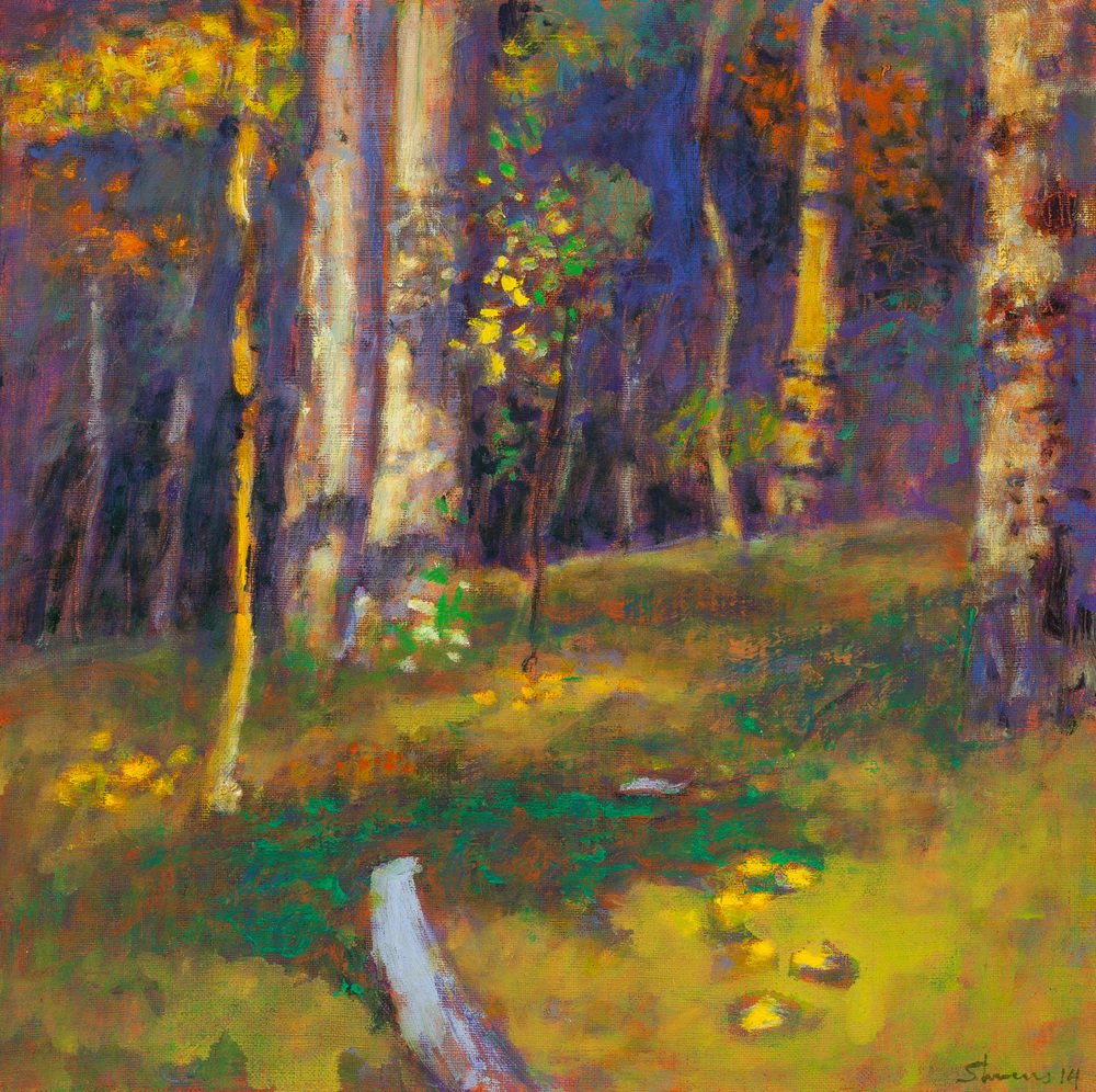 Woodland Motif | oil on linen | 14 x 14"