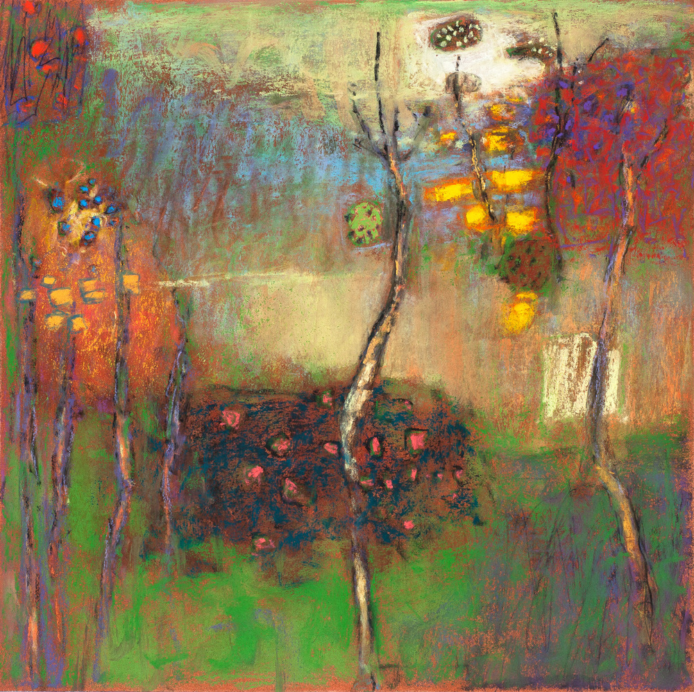 Spectral Solitude   | pastel on paper | 14 x 14"