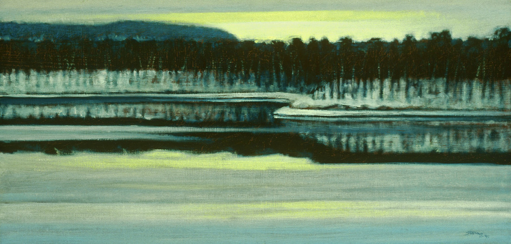 Winter Patterns | oil on canvas | 12 x 24"