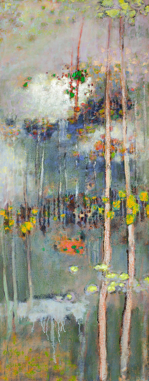 Sylvan Mist   | oil on canvas | 48 x 19"