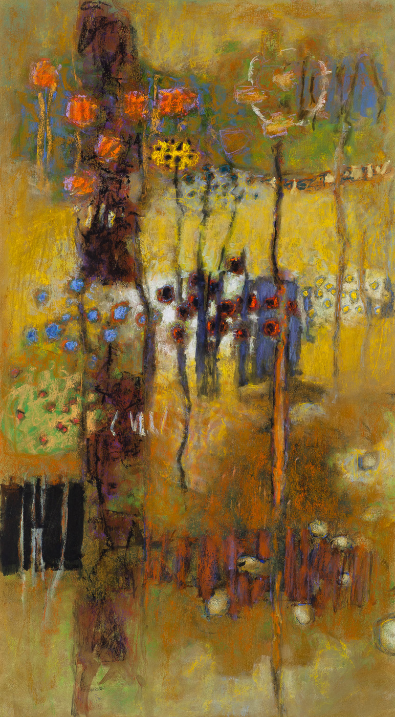 Inherent Patterns   | pastel on paper | 36 x 20"
