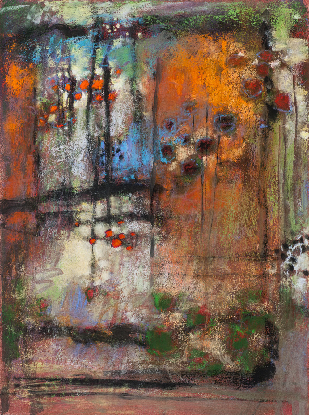 "74-14 | pastel on paper | 14 x 14"" | 2014"