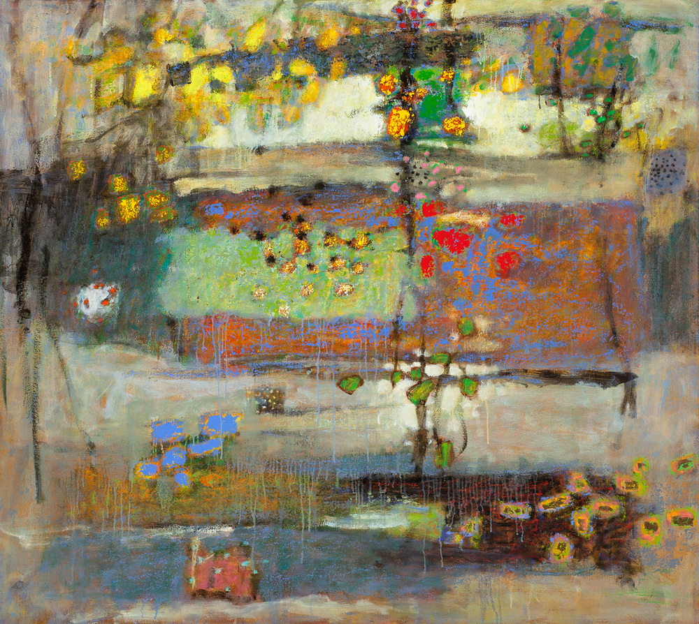 Nothing Stays the Same, Nothing Ever Ends   | oil on canvas | 48 x 54"