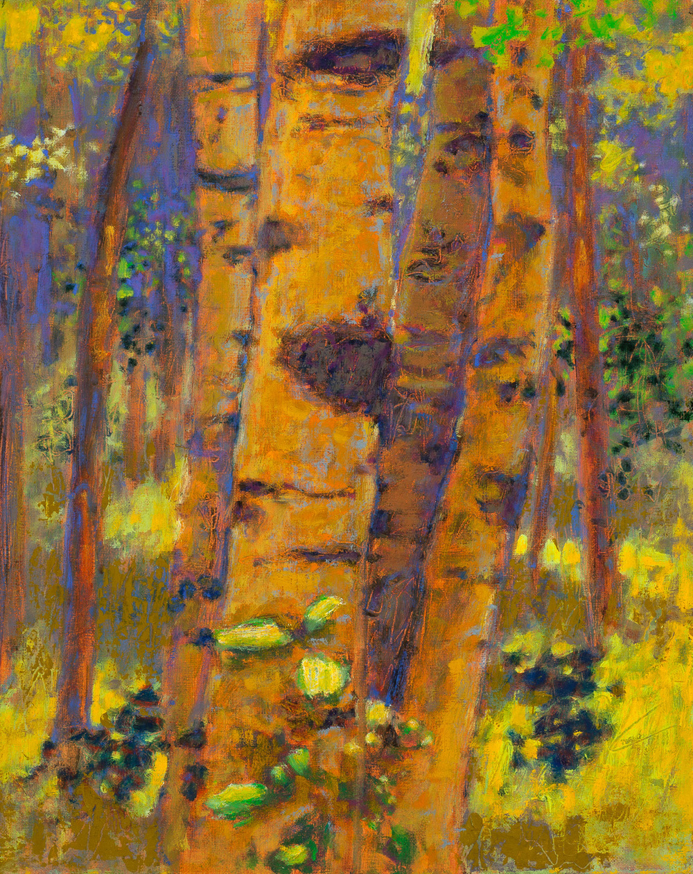 Aspen Huddle   | oil on linen | 15 x 12"